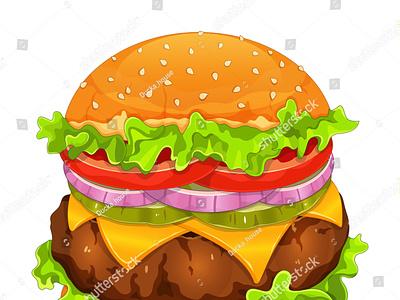 Classic beef cheeseburger recipe illustration vector. (hamburger hamburger icon draw manga meal restaurant pork beef hamburger menu fast food burger hamburger cheeseburger anime cartoon vector food illustration