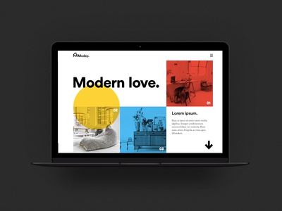 Mod Web layout grid primary colors shapes modern web