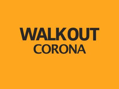 WALKOUT CORONA 😷 virus logo identity branding design covid-19 covid19 corona virus coronavirus corona