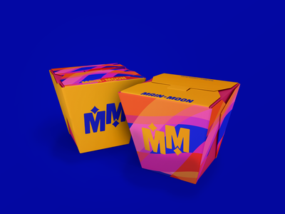 Main Moon- Takeout Box brand identity branding mockup packaging design packaging product design illustration design