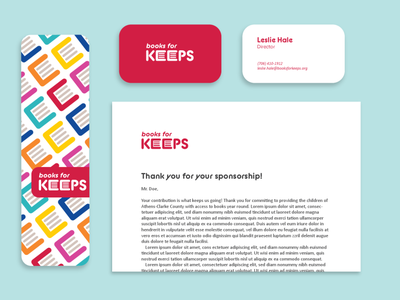 Books for Keeps Print Collateral graphic design identity design logo design logo brand strategy branding design brand design brand identity branding