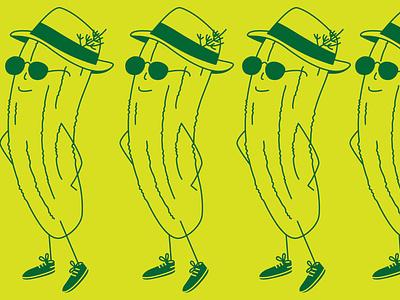 Pickle pickles character plucky pickle illustration design