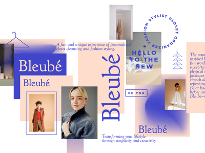 Bleubé fashion icons brand poster type illustration typography branding color design