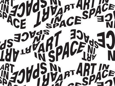Art in Space branding poster type pattern brand design illustration lettering logo typography