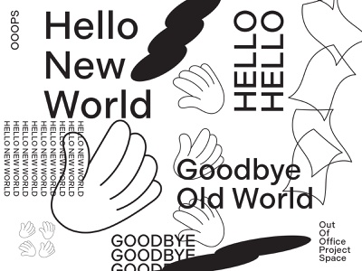 Hello New World community hello new world outofoffice goodbye hello icons brand pattern type lettering logo typography design