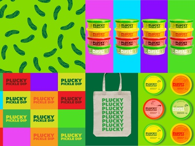 Plucky Pickle Dip food branding character dip pickle packaging illustration brand design