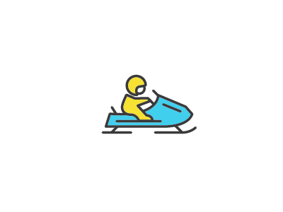 Snowmobile icon snow snowmobile winter design illustration minnesota