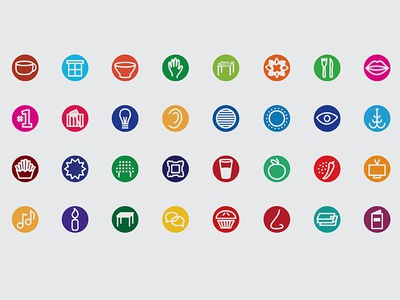 Restaurant sensory icons