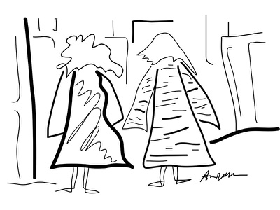 New York and then i woke up fashion new york sketch series illustration gestural dream drawing black and white