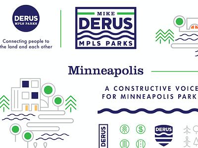 Derus for Parks campaign brand design derusforparks minneapolis parks political