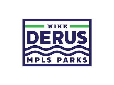 Derus for Parks political campaign brand logo design parks election