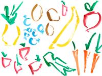Watercolor produce