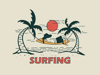 SURFING CLUB logo design illustration branding surfing clothing