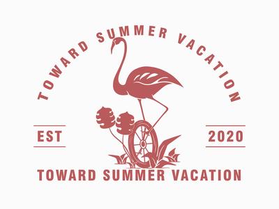 SUMMER VACATION merchandise vector logo vector design clothing brand branding logo desaign vintage design