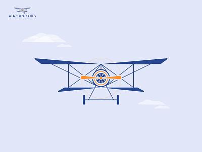 """Airoknotiks"" Aircraft Logo branding logomark ux ui app icon logo illustration minimalist logo logo design gradient logo airplane logo aircraft plane"