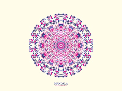 """Mandala"" Background Design 4 luxury design mandalas mandala mandalaart flat logo logomark vector new logo branding logo design app icon logo illustration minimalist logo logo design gradient logo"