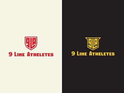 9 Line Atheletes new logo branding logo ui logomark number logo a letter logo design l letter logo monogram minimalist logo logo design athletes number 9 gym logo body building fitness logo