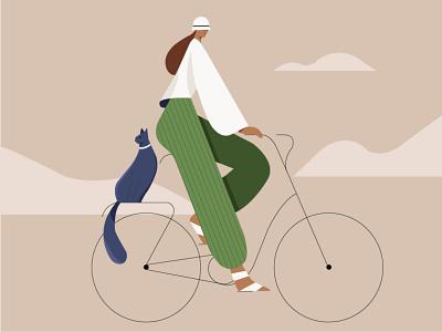 trip trip cat bike girl illustration art digtalart graphicdesign man graphics illustrator motion graphics studying motion illustration motiongraphics illustration
