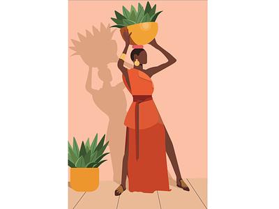 African beauty woman illustration woman logo african woman african africa motion illustrationart graphicdesign illustration art digtalart illustration motiongraphics graphics motion graphics illustrator digitalart illustration
