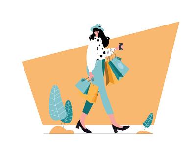 shopping fashion girl shopping illustration art digtalart studying illustration graphicdesign motion graphics illustration motiongraphics graphics digitalart illustrator illustrationart