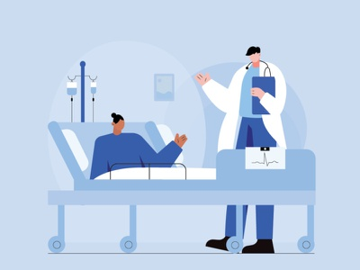 doctor and his patient medical patient hospital doctor motion motion graphics illustration art digtalart graphicdesign illustration motiongraphics illustrator graphics digitalart illustrationart illustration