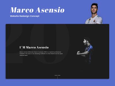 Marco Asensio - Website Redesign Concept