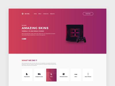 XO Store Homepage Concept