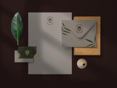PAPA CAPIM - STATIONERY vector logo branding design
