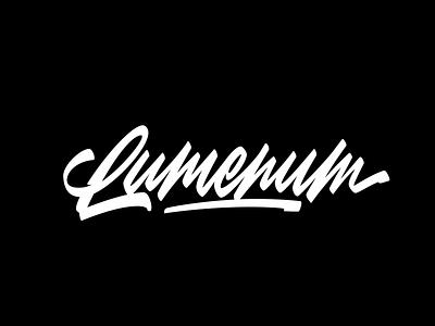 Lumenum vector typography logotype logo lettering calligraphy