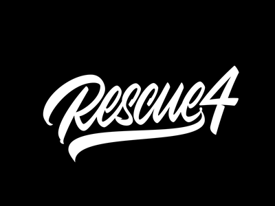 Rescue 4 vector typography logotype calligraphy logo lettering