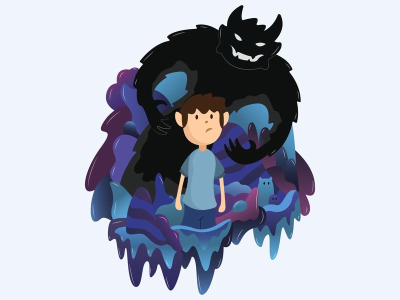 Nightmares illustration vector