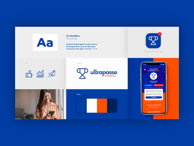 Ultrapasse Marketing minimal flat trophy marketing logo design branding brand identity art direction advertising