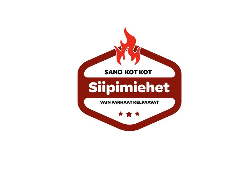 Siipimiehet logo illustration vector branding logo