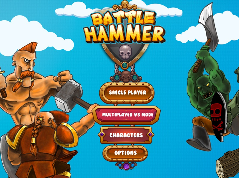 Batlle Hammer game mobile game mobile app design creative game graphic game typography icon branding design