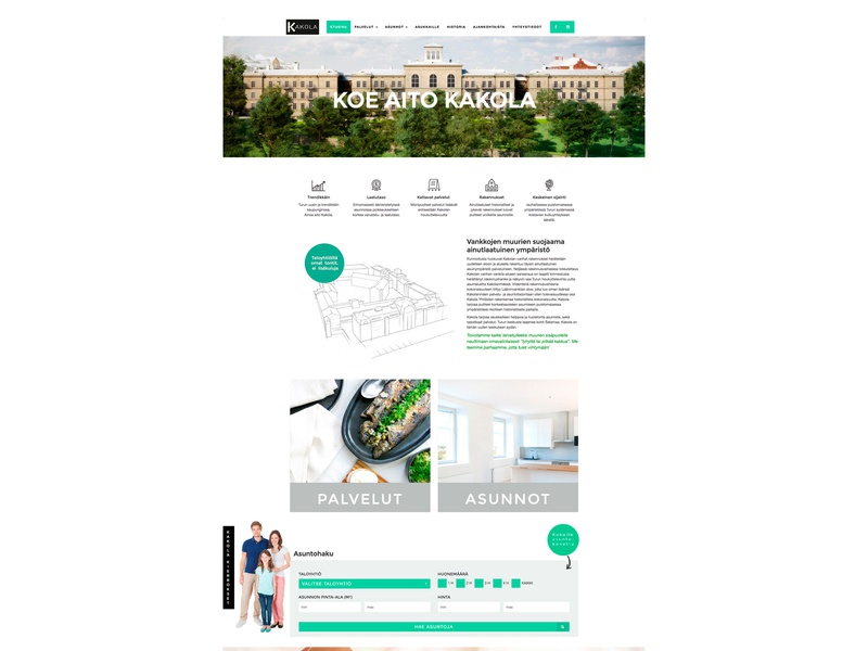 Kakola web minimal consept icon wordpress web ux branding design