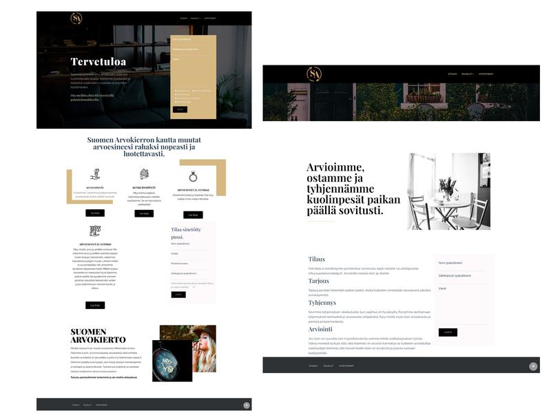 Suomenarvokulta typography wordpress web ux vector design