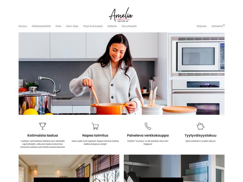 Amelia website wordpress kitchen 3d web ui design
