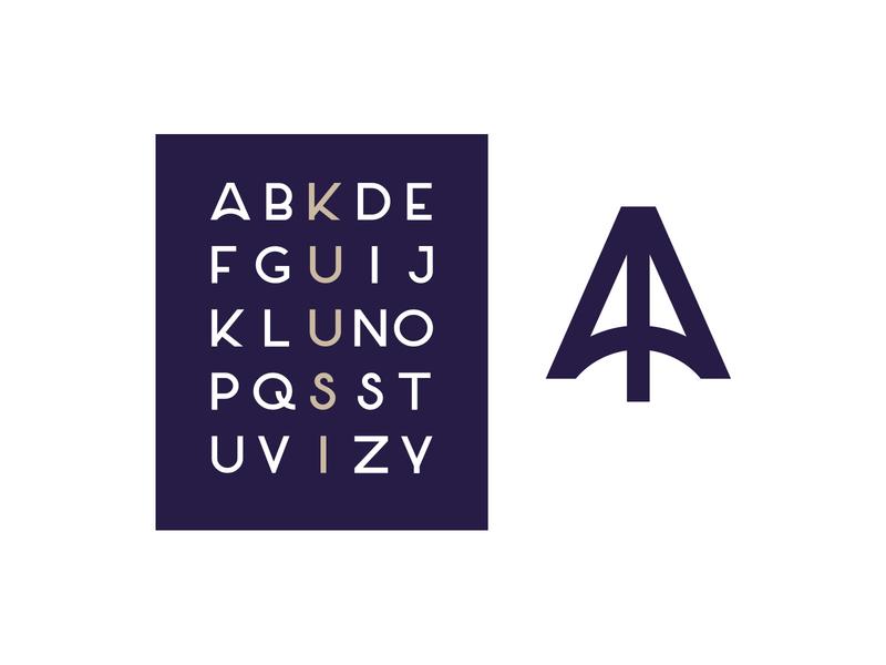 Kuusi Brand illustration design web logo vector