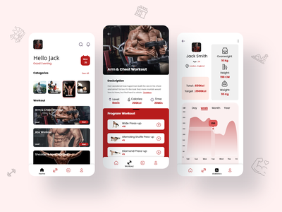 Home Workout 2 fitness app workout app fitness workout gym app app ui design uiux uidesign ui design