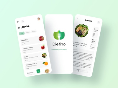 Diet app application diet app diet food typogaphy health app health healthy app ui design design uidesign ui minimal
