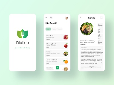 Diet app - 2 typography minimal diet app diet application design application ui app design healthy health app ui design uidesign ui design