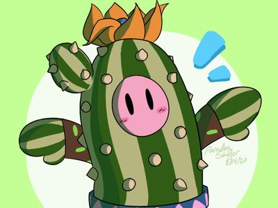 Fall Guys - Cactus Costume cute cute illustration game art game cactus illustration cactuses fall guys
