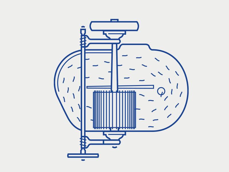 Papieroffizin Infografik paper manufacturer holländer information graphics process illustration icon branding