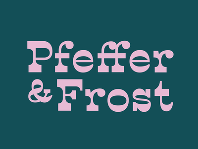 Pfeffer & Frost vintage typography serif stressed contrast germany christmas gingerbread lettering logo