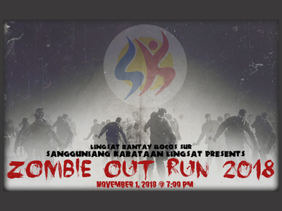Zombie Out Run - Banner illustration design