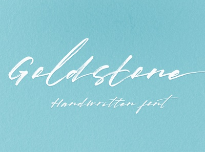Goldstone ink magazine oldstyle cursive organic headline handwriting logo rough poster