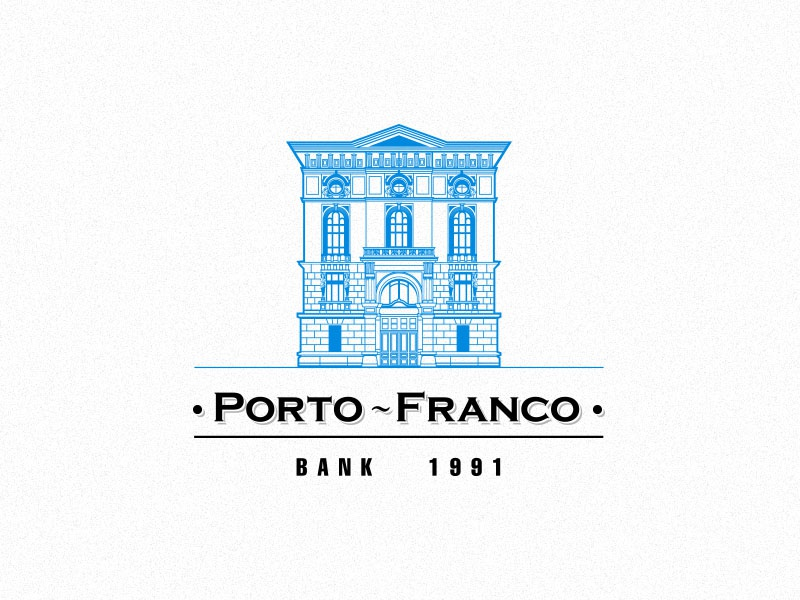 Bank logo Porto-Franco logo corporate identity bank