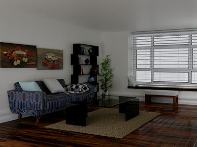 interior rumah v1 interior illustration design blender 3d