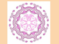 Mandala seamless ornament