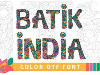 Batik India Color Font